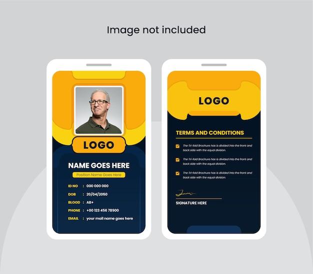 Cartão de identificação abstrato do escritório colorido e criativo design frente e verso cartões de identificação para coisas da empresa