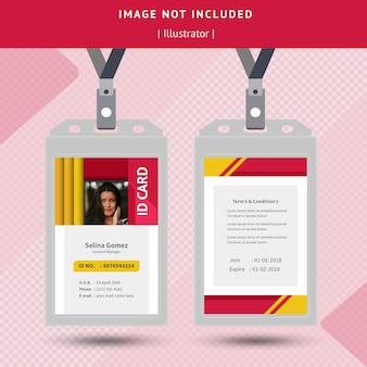 Cartão de identificação colorido