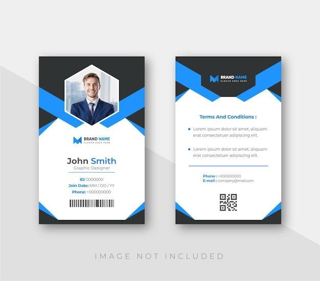 Cartão de identificação com modelo de elementos minimalistas