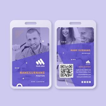 Cartão de identificação comercial de marketing