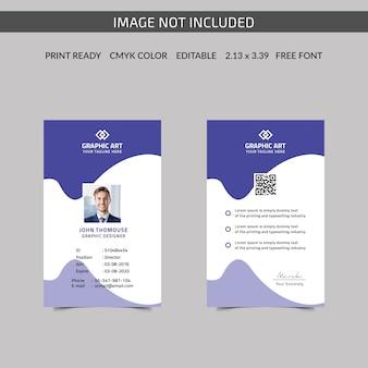 Cartão de identificação corporativa