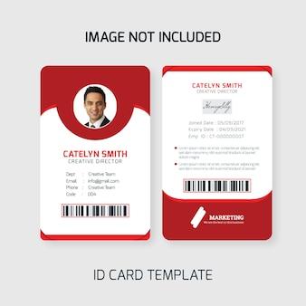 Cartão de identificação do funcionário