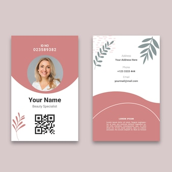 Cartão de identificação do salão de beleza