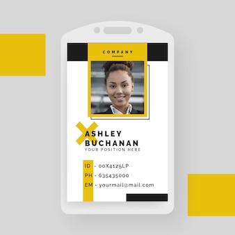 Cartão de identificação empresarial criativo com formas minimalistas