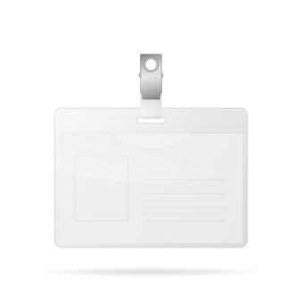 Cartão de identificação isolado no branco.
