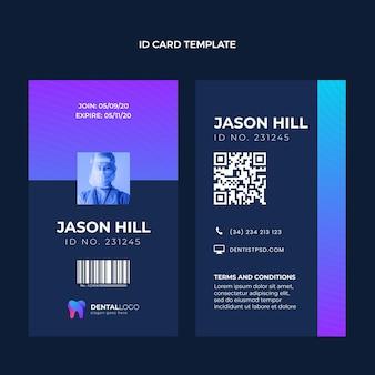 Cartão de identificação médica gradiente