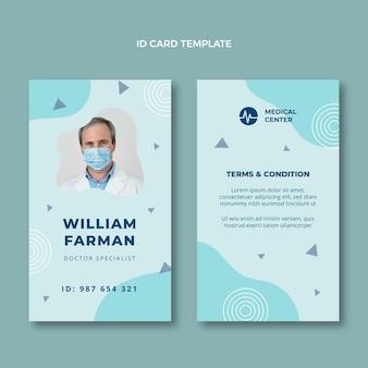 Cartão de identificação médica plana