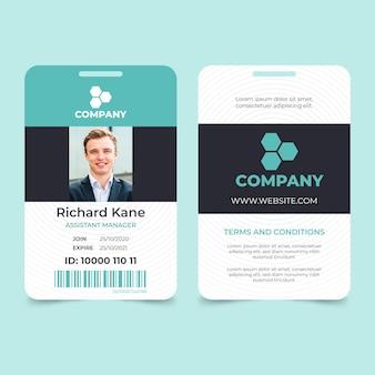 Cartão de identificação mínimo com foto