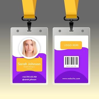 Cartão de identificação mínimo