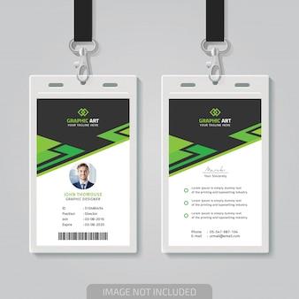 Cartão de identificação themplate