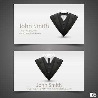 Cartão de jaqueta triangular. ilustração vetorial. cartão de visitas