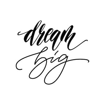 Cartão de letras grande sonho. ilustração vetorial.