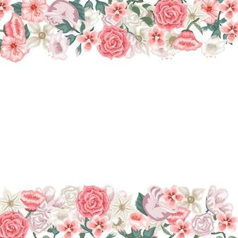Cartão de linda flor para escrever uma dedicação