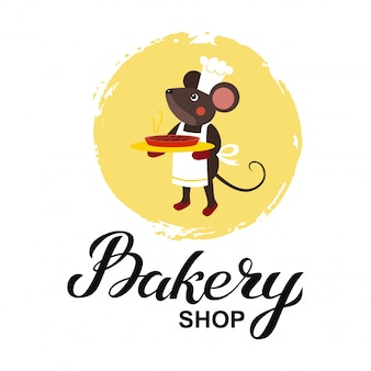 Cartão de logotipo de loja de padaria