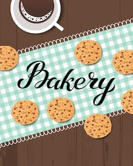 Cartão de logotipo de padaria
