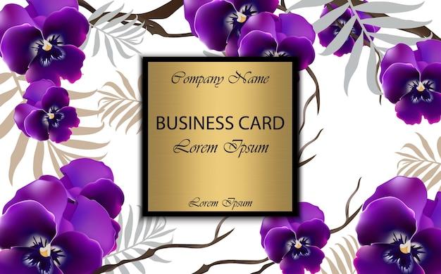 Cartão de luxo com flores de orquídeas vector. ilustração bonita para livro de marca, cartão de visita ou cartaz. fundo branco. lugar para textos