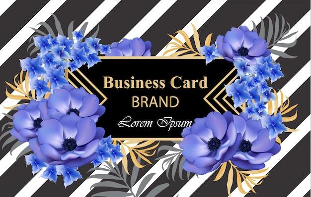 Cartão de luxo com flores. ilustração bonita para livro de marca, cartão de visita ou cartaz. lugar para textos