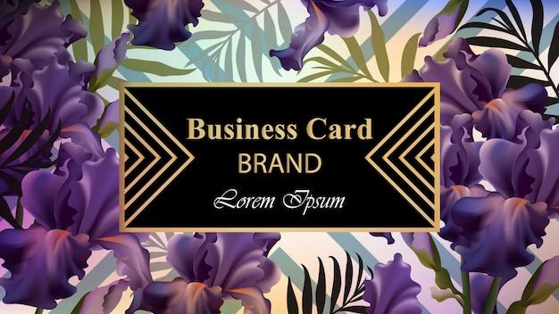 Cartão de luxo com flores vector. ilustração bonita para livro de marca, cartão de visita ou cartaz. fundo floral. lugar para textos