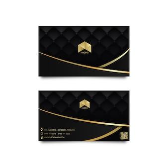 Cartão de luxo dourado