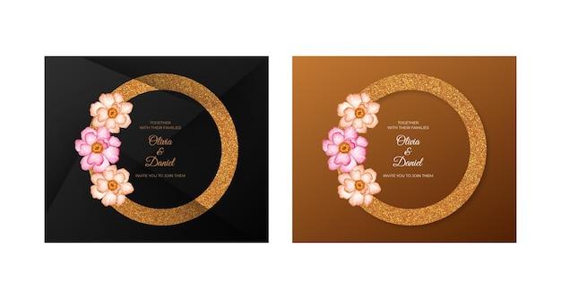 Cartão de luxo floral especial para namorados para salvar a data