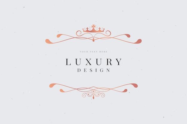 Cartão de luxo ornamentais