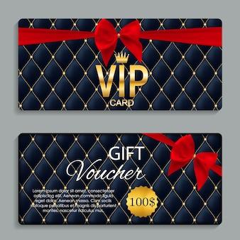Cartão de luxo vip membros e voucher de oferta