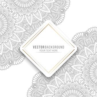 Cartão de mandala ou convite com elementos decorativos vintage