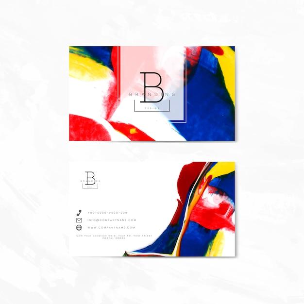 Cartão de marca artística