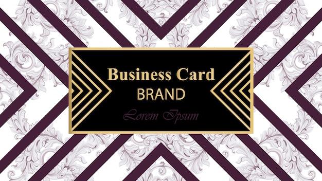 Cartão de marca de luxo com ornamento abstrato vector. ilustração de design de fundo. lugar para textos