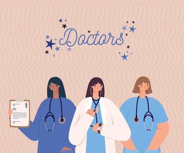 Cartão de médico fofo