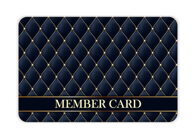 Cartão de membro de luxo isolado