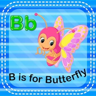 Cartão de memória letra b é para borboleta