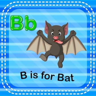 Cartão de memória letra b é para morcego