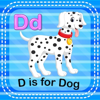 Cartão de memória letra d é para cão