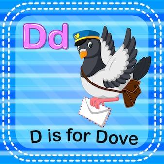 Cartão de memória letra d é para pomba