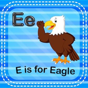 Cartão de memória letra e é para a águia