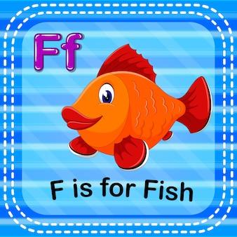 Cartão de memória letra f é para peixe