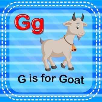 Cartão de memória letra g é para cabra
