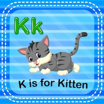 Cartão de memória letra k é para gatinho