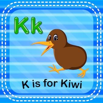 Cartão de memória letra k é para kiwi