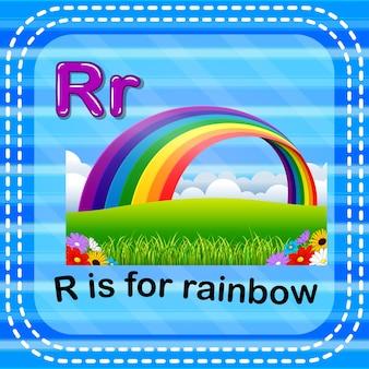 Cartão de memória letra r é para arco-íris