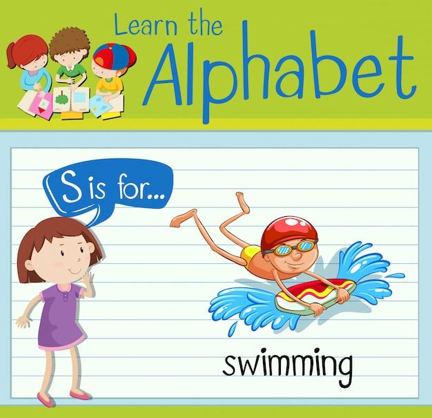Cartão de memória letra s é para nadar