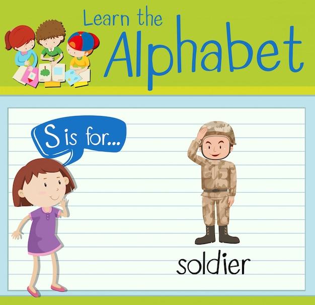 Cartão de memória letra s é para soldado