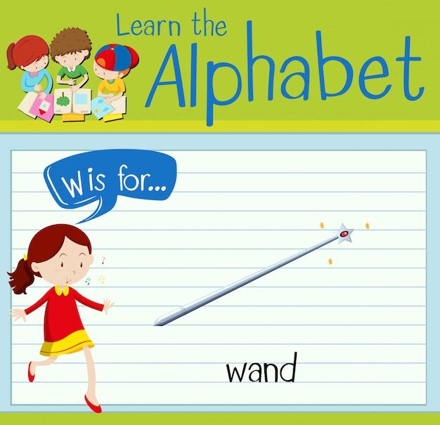 Cartão de memória letra w é para varinha