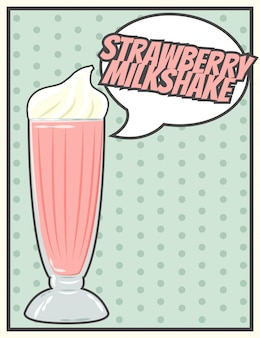 Cartão de milkshake