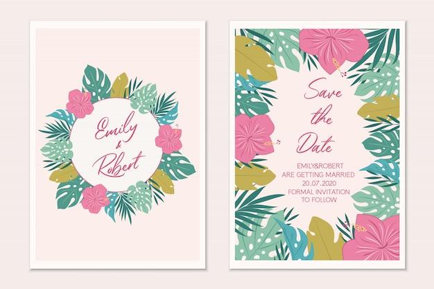 Cartão de modelo de convite de casamento.