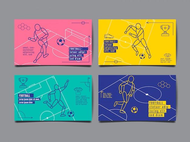 Cartão de modelo esportivo