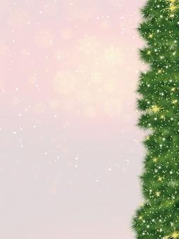 Cartão de natal-árvore do abeto.