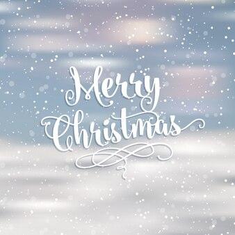 Cartão de natal borrada