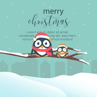 Cartão de natal colorido